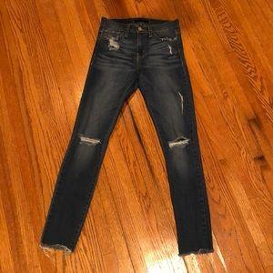Dark wash flying monkey jeans